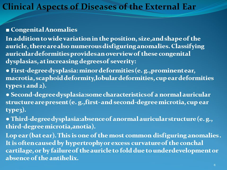 Clinical Aspects of Diseases of the External Ear