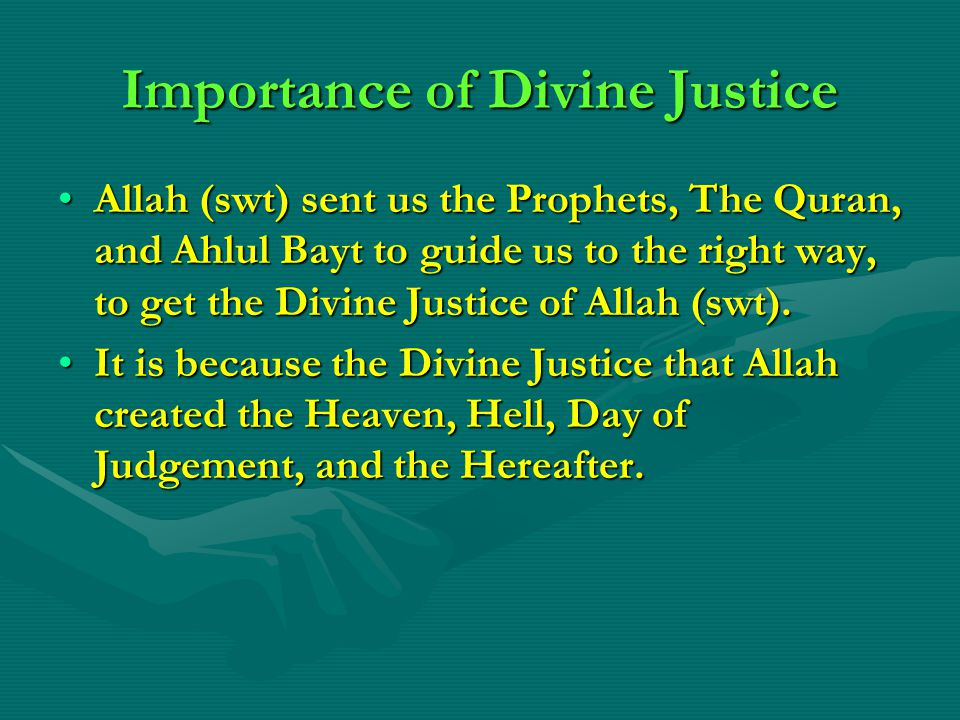 Importance of Divine Justice