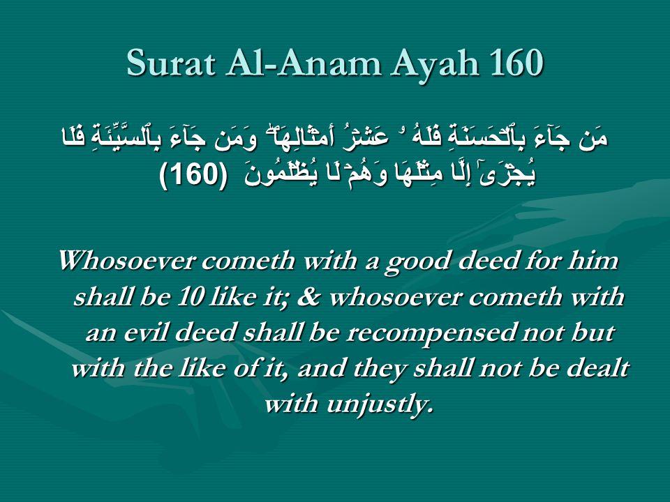Surat Al-Anam Ayah 160