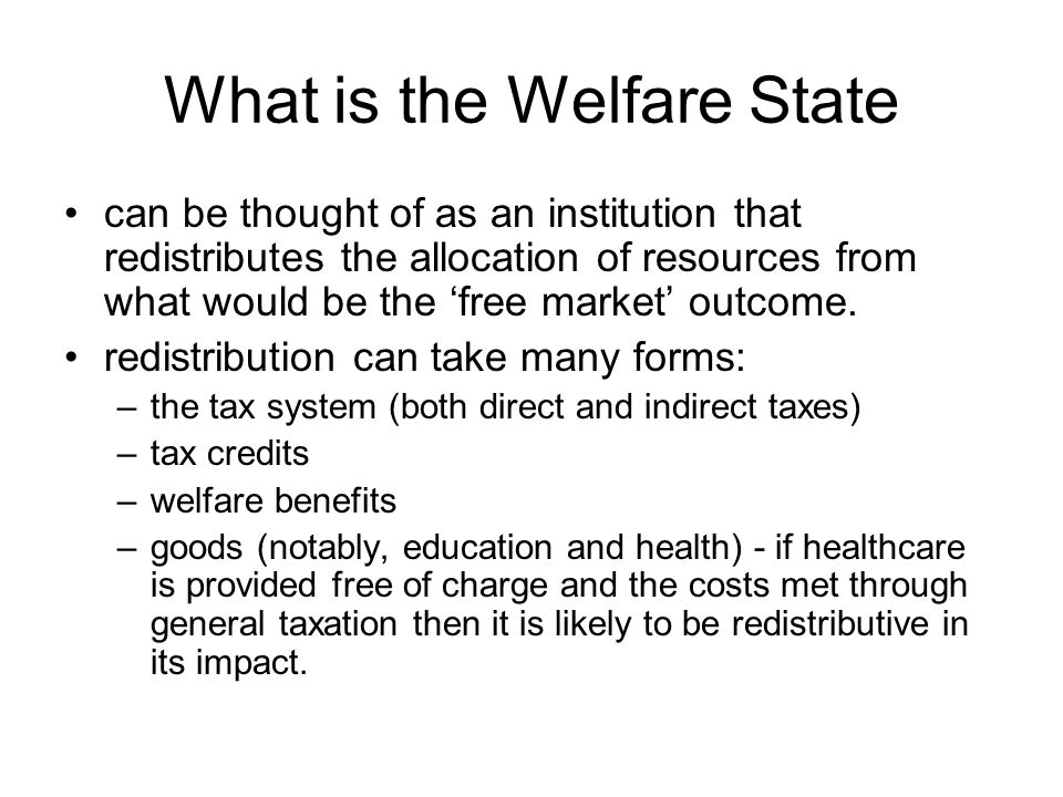 What is the Welfare State