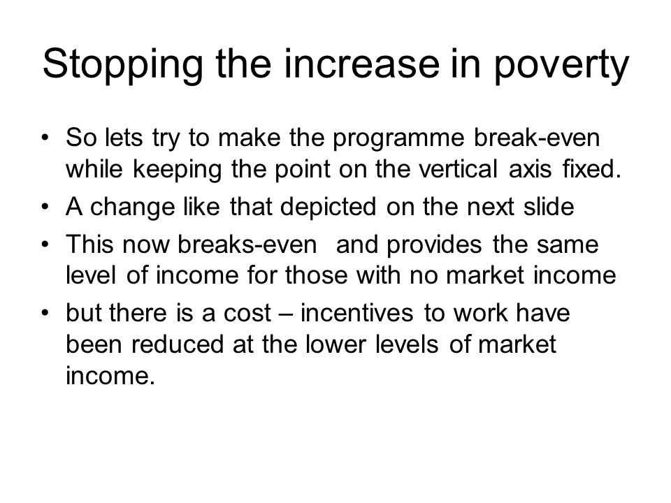 Stopping the increase in poverty