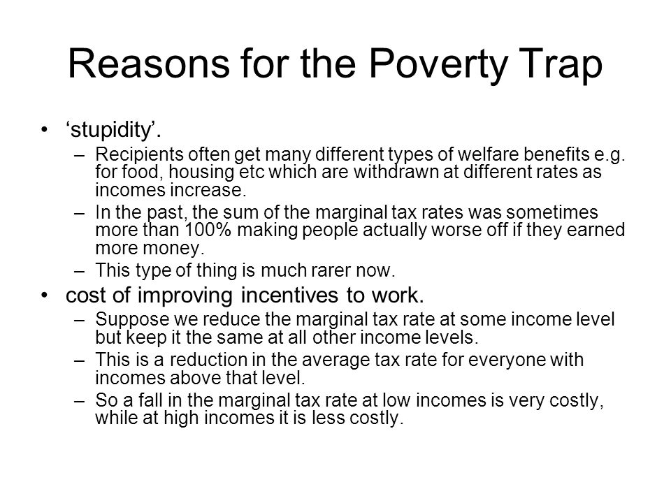 Reasons for the Poverty Trap