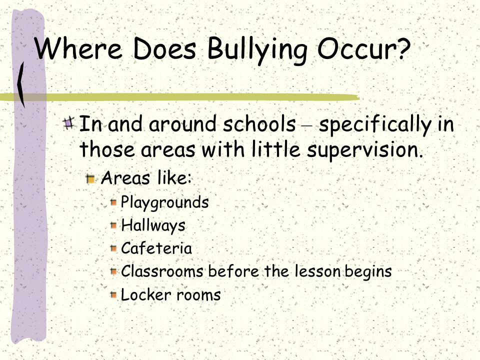 Where Does Bullying Occur