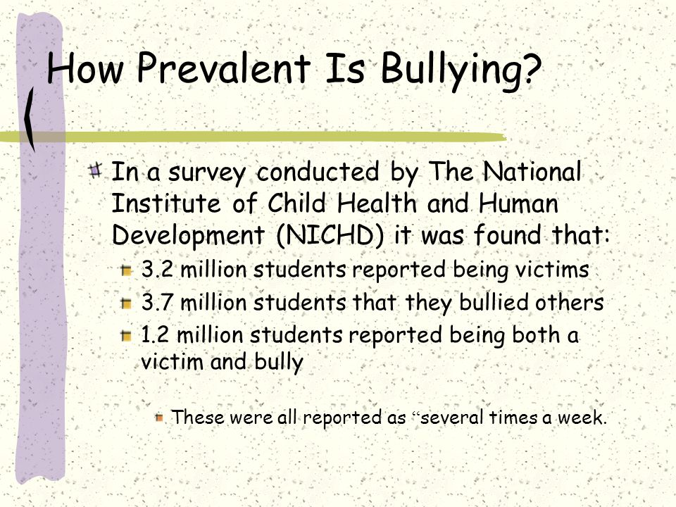 How Prevalent Is Bullying