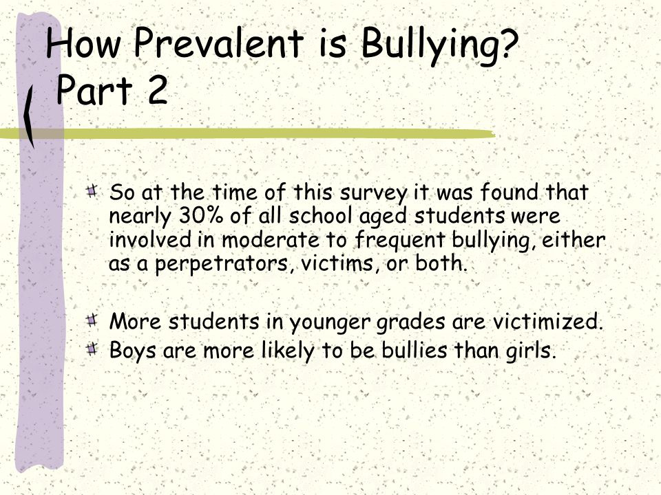 How Prevalent is Bullying Part 2