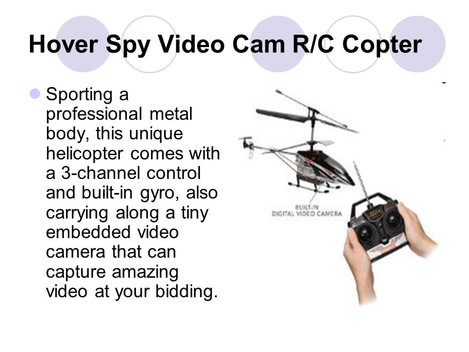Hover Spy Video Cam R/C Copter