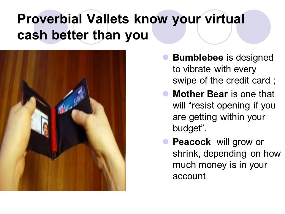 Proverbial Vallets know your virtual cash better than you
