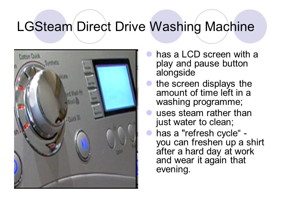 LGSteam Direct Drive Washing Machine