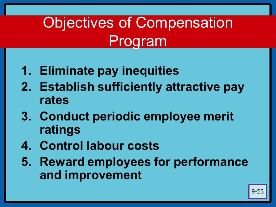 Objectives of Compensation Program
