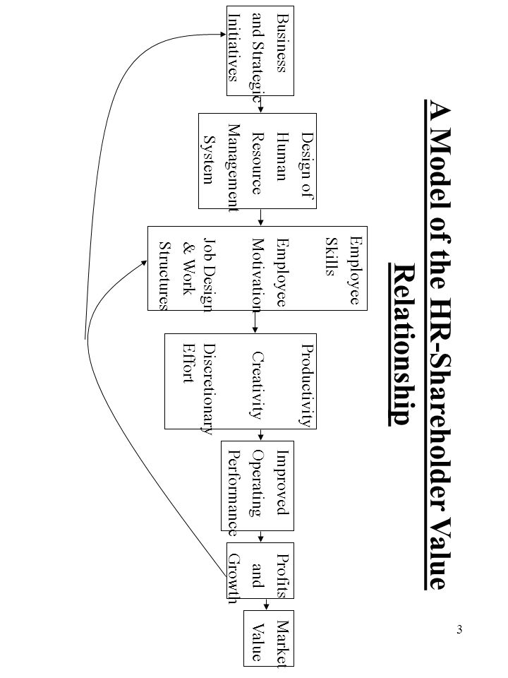 A Model of the HR-Shareholder Value Relationship