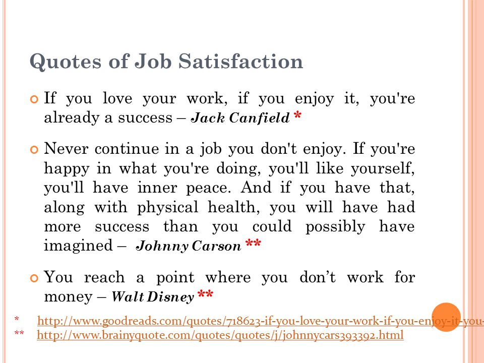Quotes of Job Satisfaction