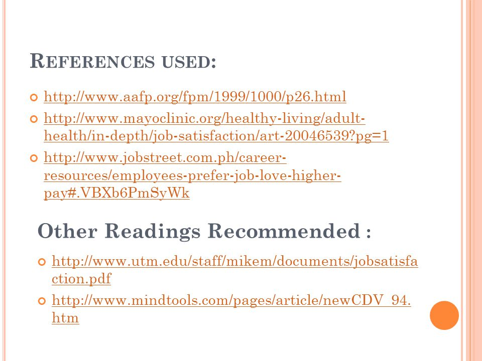 Other Readings Recommended :