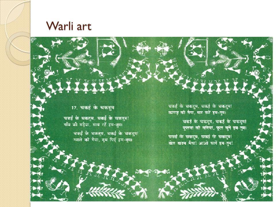 Warli art Chakai ke chakdum – in warli style