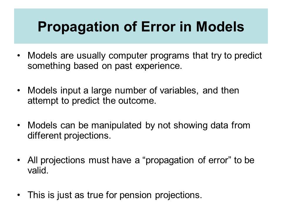 Propagation of Error in Models