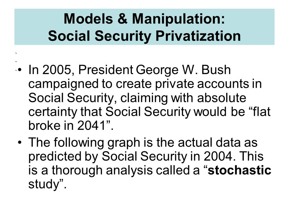 a study on the privatization of social security The privatization of social security: governance challenges of partnership  provision  in chile, a survey conducted in 1987, a mere six years after  complete.