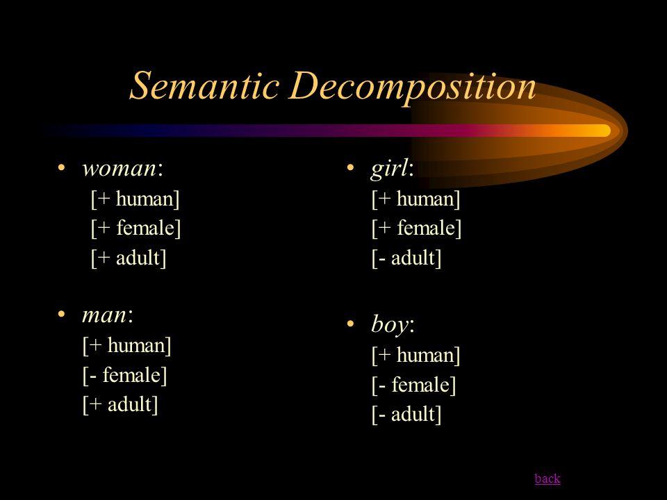 Semantic Decomposition