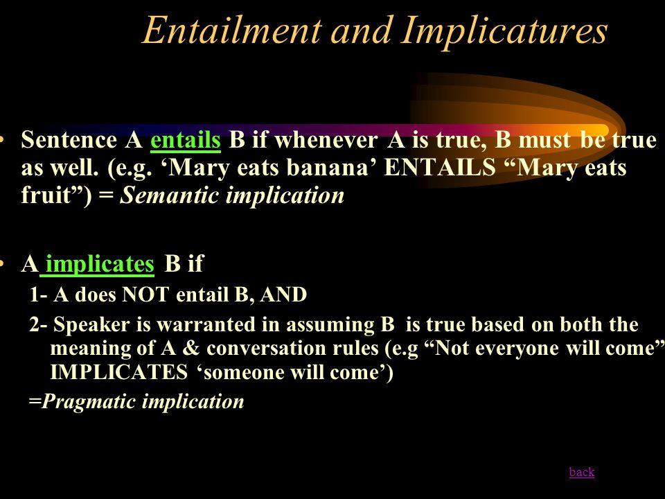 Entailment and Implicatures