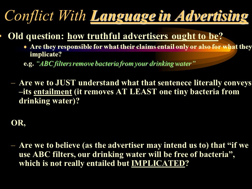 Conflict With Language in Advertising