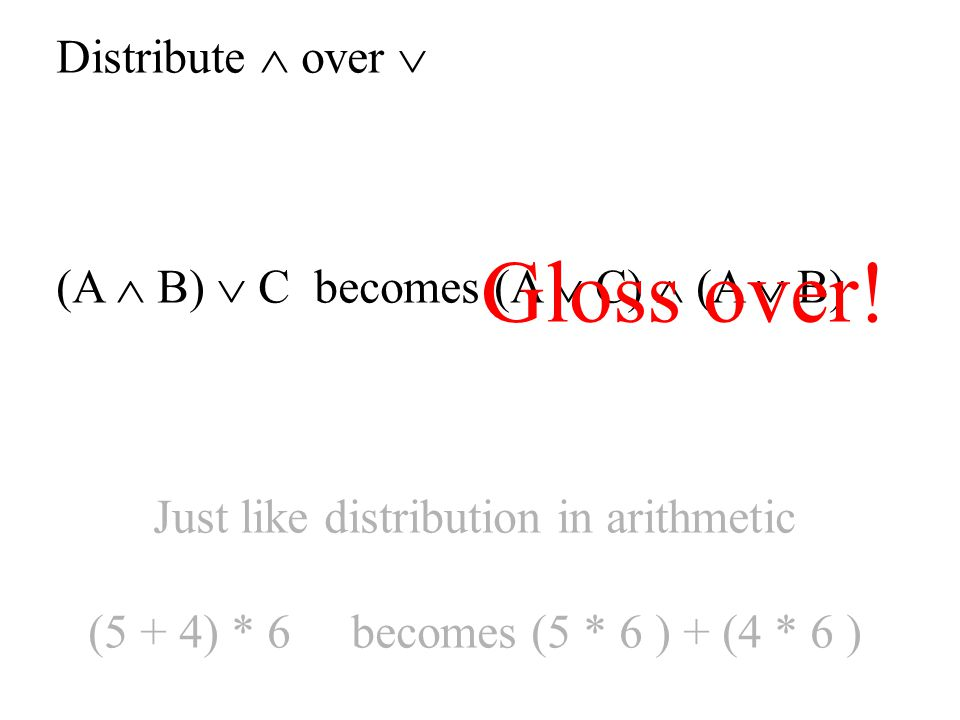 Just like distribution in arithmetic