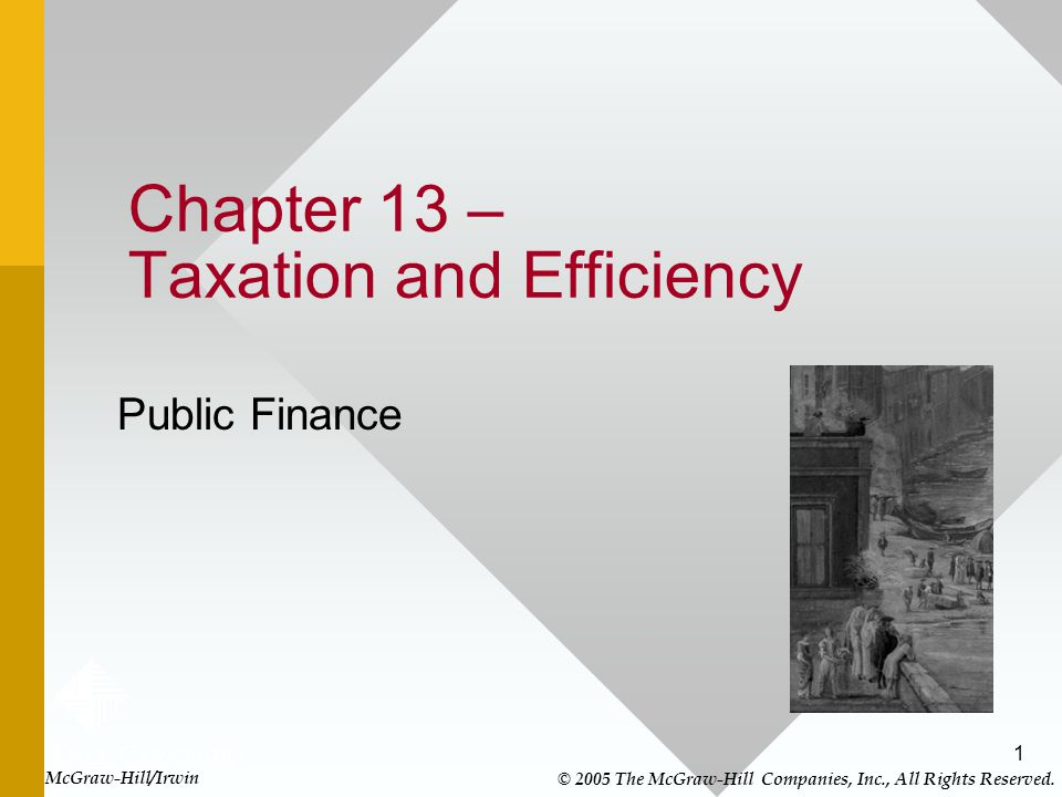 Chapter 13 – Taxation and Efficiency
