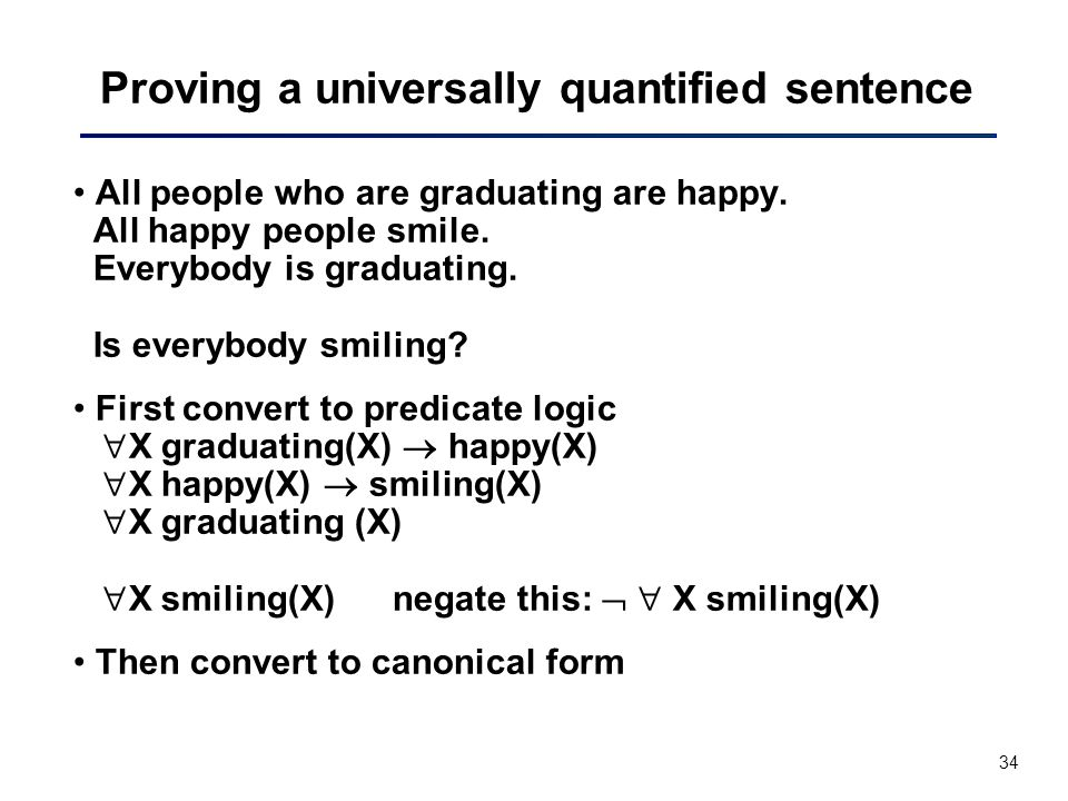 Proving a universally quantified sentence