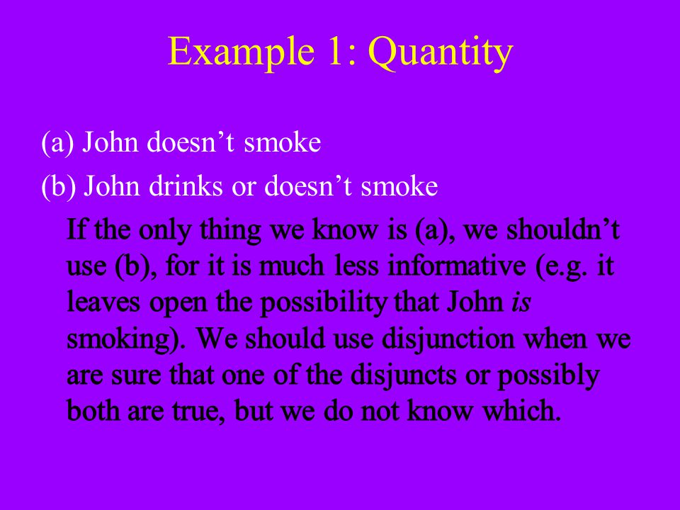 Example 1: Quantity