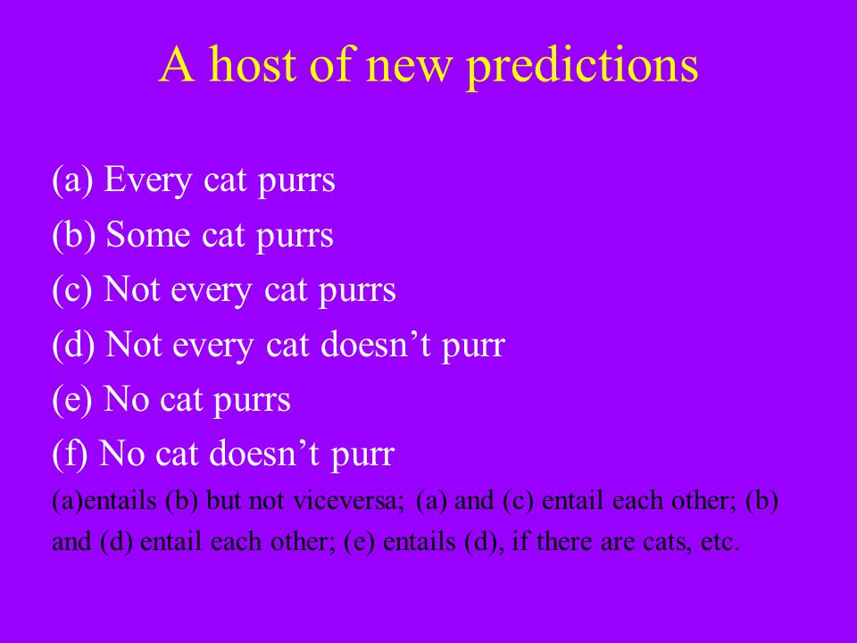 A host of new predictions