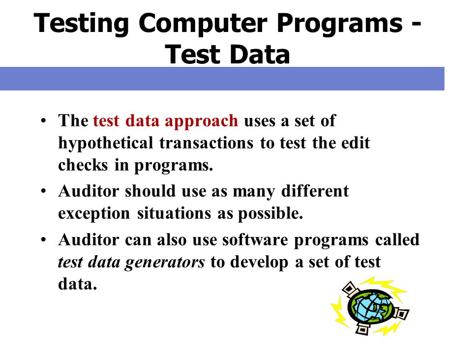 Testing Computer Programs - Test Data