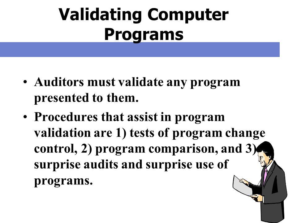 Validating Computer Programs