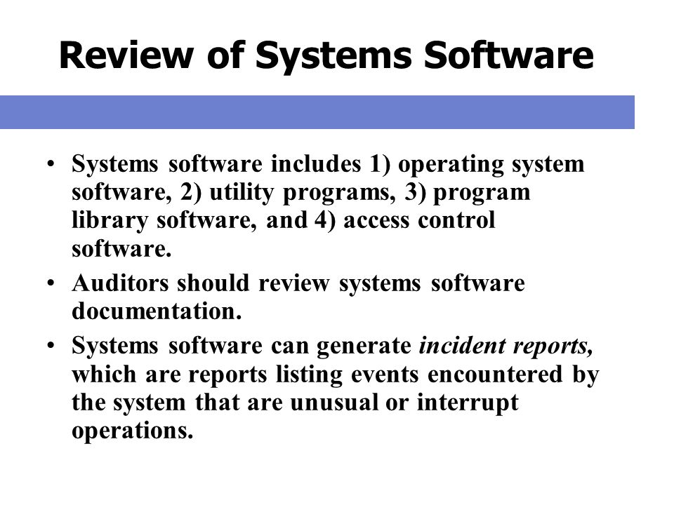 Review of Systems Software