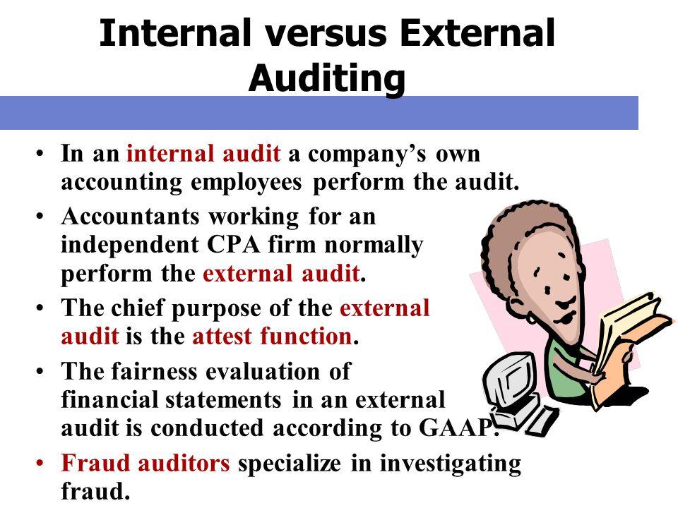 Internal versus External Auditing