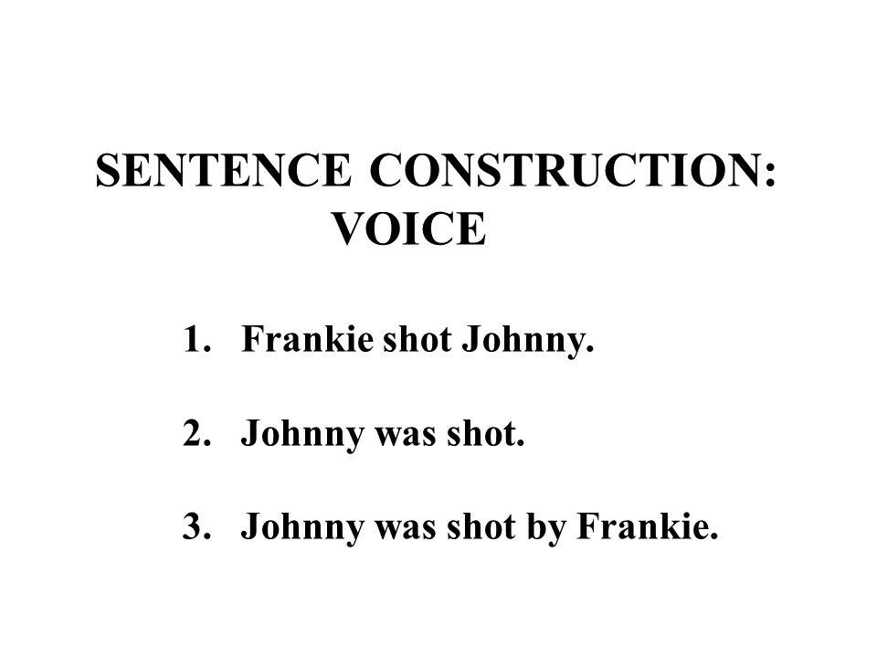 SENTENCE CONSTRUCTION: VOICE