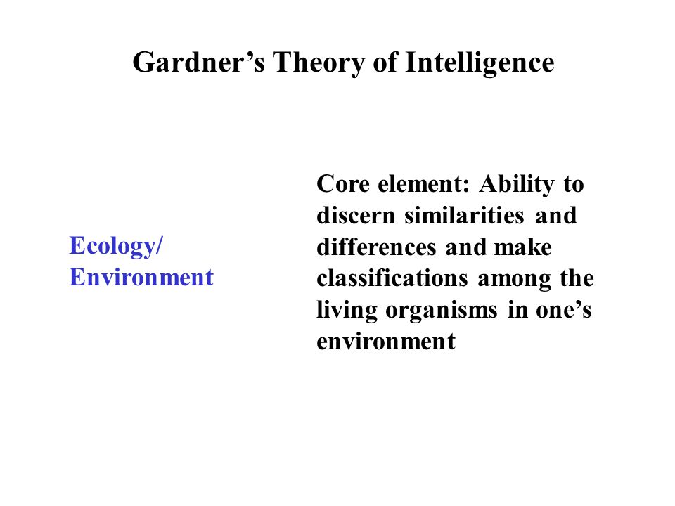 Gardner's Theory of Intelligence