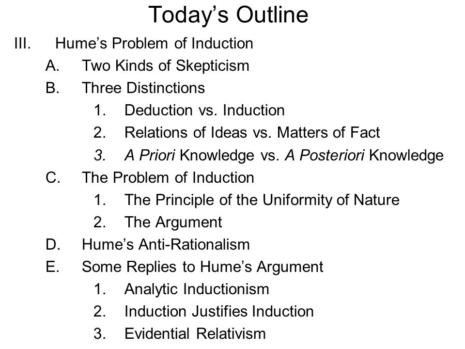 Essays on humes problem of induction