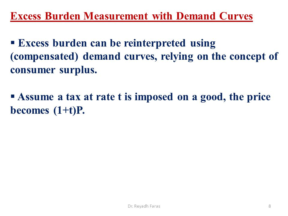 Excess Burden Measurement with Demand Curves