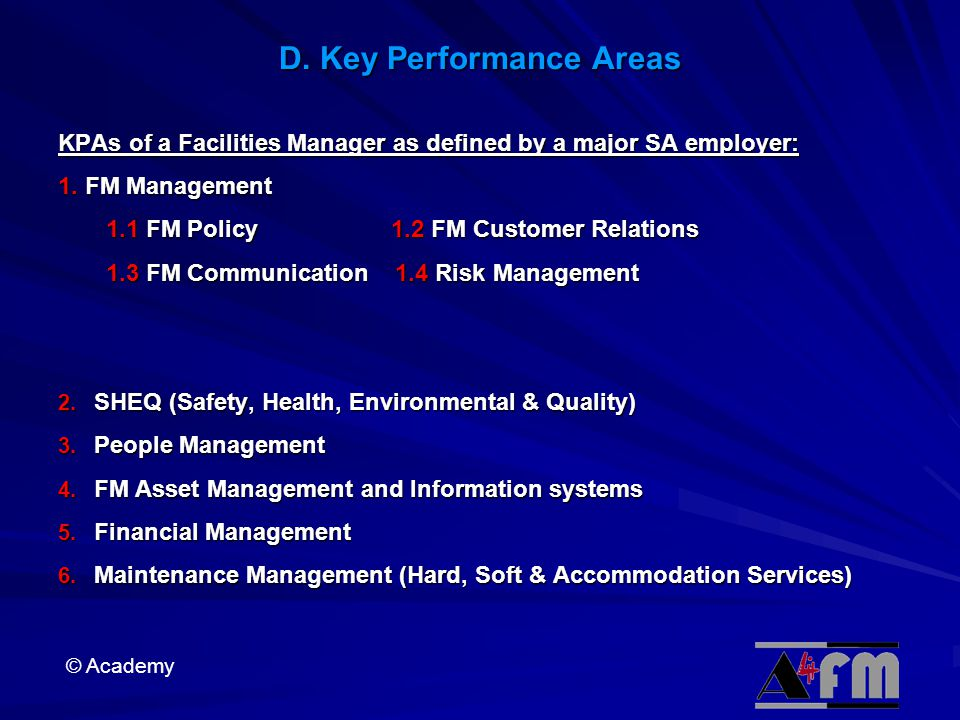 D. Key Performance Areas