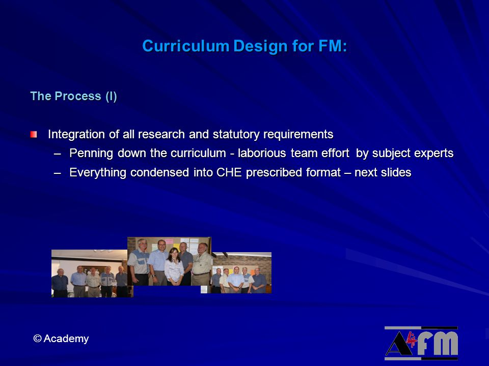 Curriculum Design for FM: