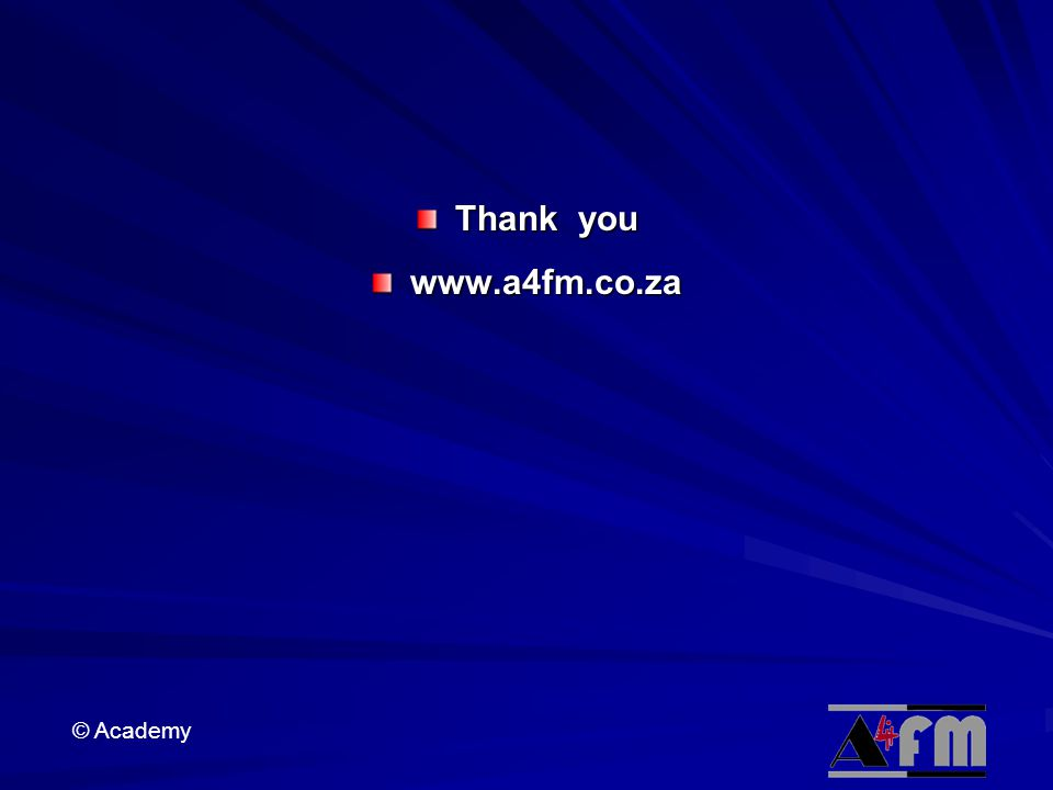 Thank you www.a4fm.co.za