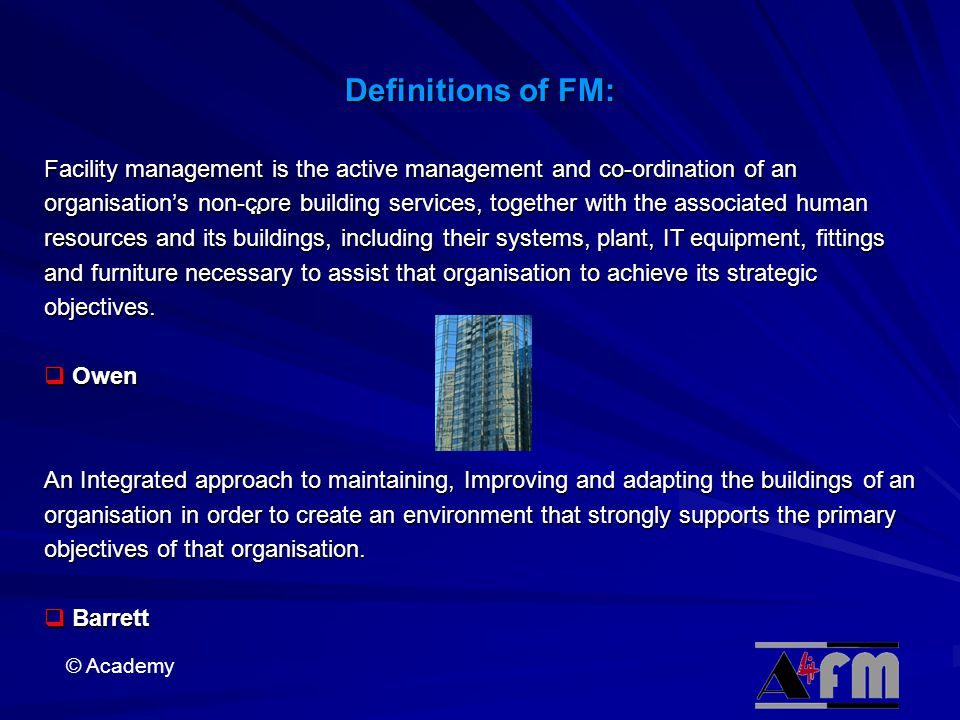 Definitions of FM: