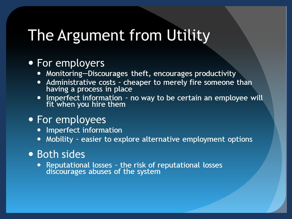 The Argument from Utility