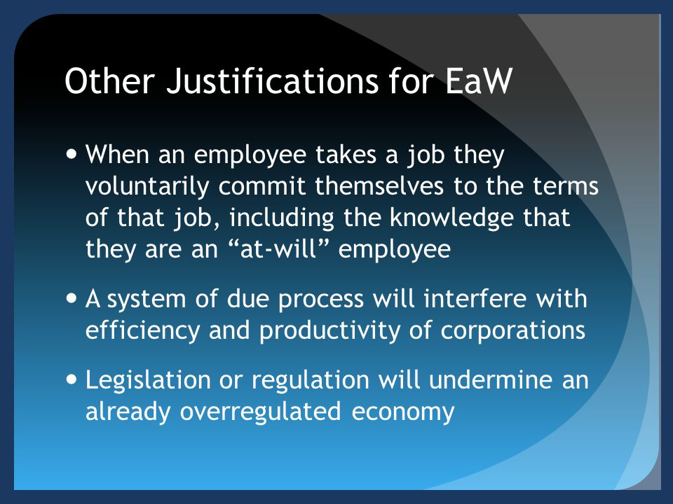 Other Justifications for EaW