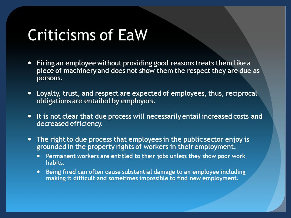 Criticisms of EaW