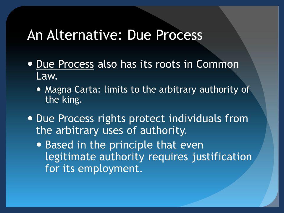 An Alternative: Due Process