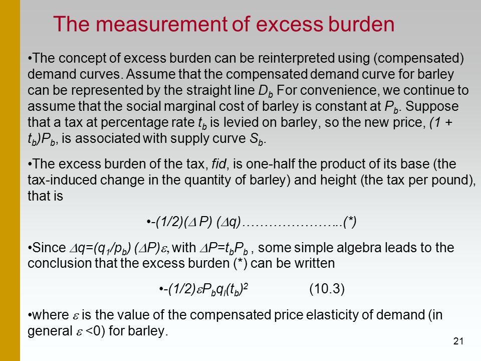 The measurement of excess burden