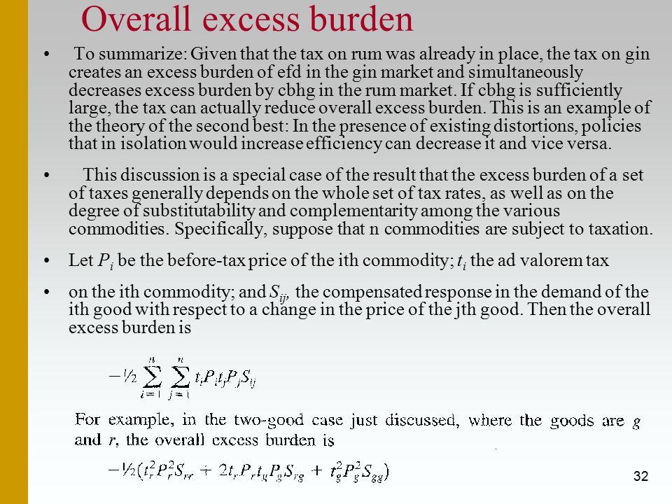 Overall excess burden