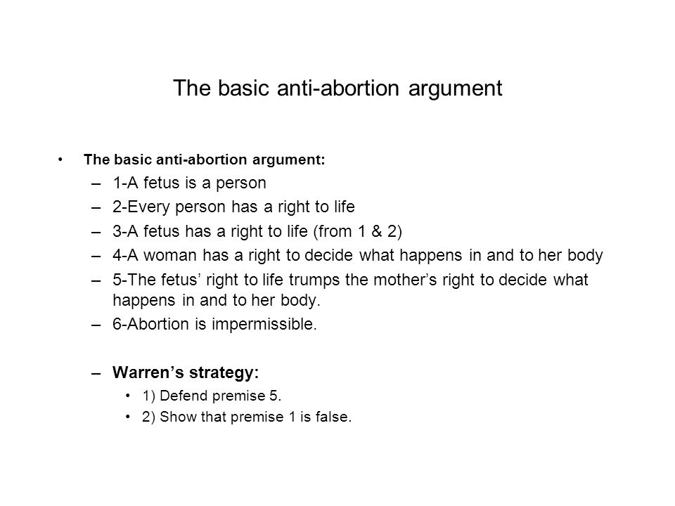The basic anti-abortion argument