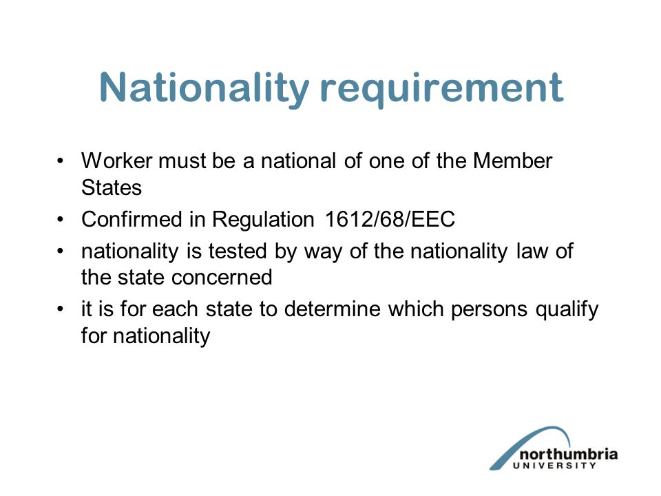 Nationality requirement