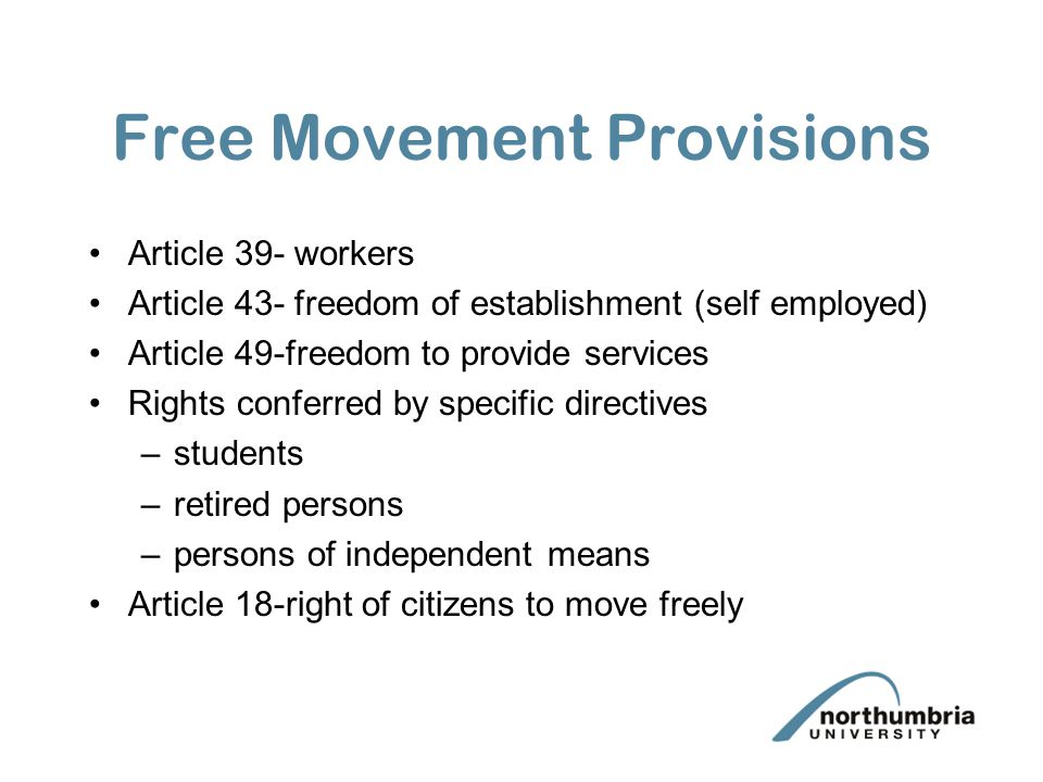 Free Movement Provisions