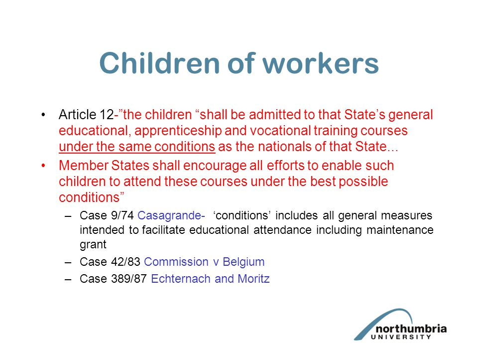 Children of workers