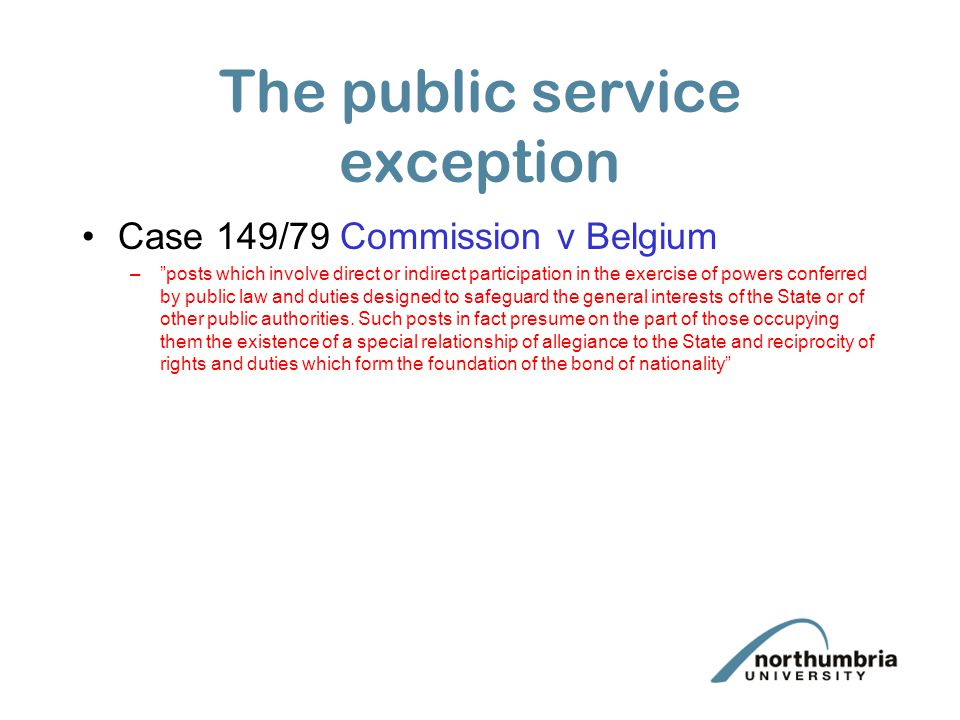 The public service exception
